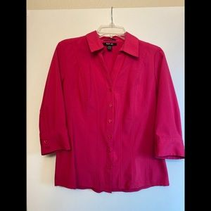 Macy's Pink Work Blouse